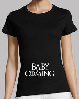 Camiseta embarazada Baby is Coming