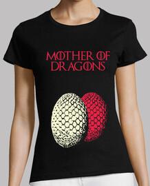 Camiseta embarazada gemelos Mother of dragons