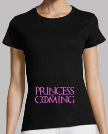 Camiseta embarazada Princess is coming