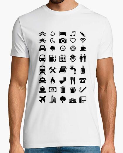 Camiseta Emoticonos Viajeros Blanca