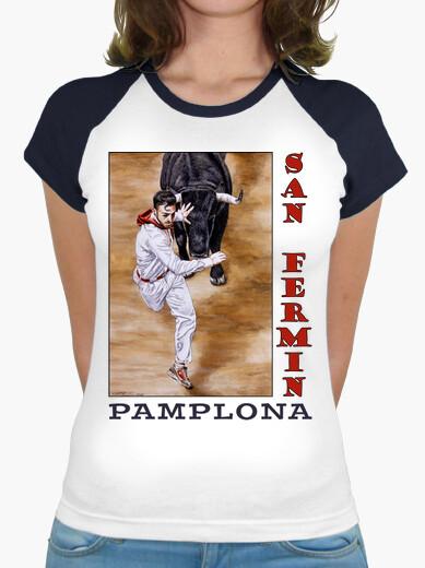 Camiseta Encierro - Mujer, estilo béisbol