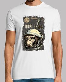 Camiseta Espacial Divertida Monkey Astronauta Espacio