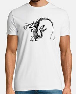 Camiseta Esqueleto Dinosaurio Hombre Manga corta
