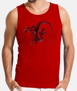 Camiseta Esqueleto Dinosaurio Hombre sin manga
