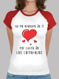 Camiseta estilo béisbol Yo me enamoré de ti