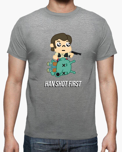 Camiseta ExM12 - Star Wars - Han shot first chico
