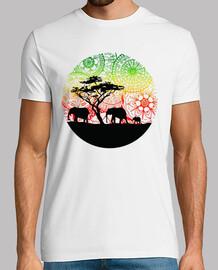 camiseta familie elefanten, mann