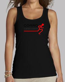 Camiseta femenina Corro luego existo