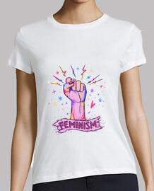 camiseta feminista logotipo acuarela