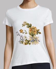 Camiseta Flor bordada
