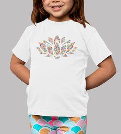 Camiseta Flor de color