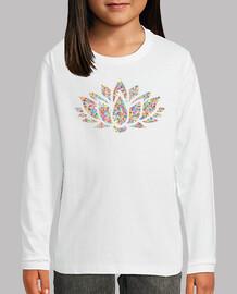 Camiseta Flor de color M/L