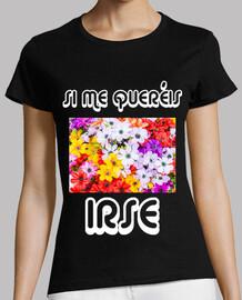 Camiseta Flores Negro