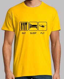Camiseta FLY Hombre, manga corta, amarillo mostaza, calidad extra