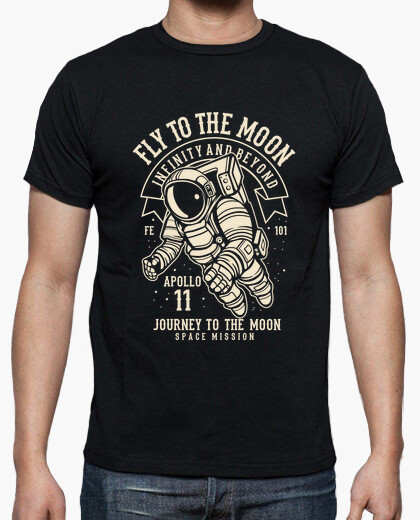 Camiseta Fly to the Moon - ARTMISETAS ART CAMISETAS