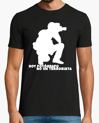 Camiseta Fotógrafo no terrorista Fotografía fotografo fotografos foto photo  friki freak, fotógrafo