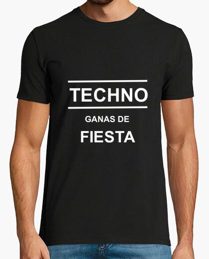 Camiseta Frase Techno