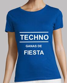 Camiseta frase techno mujer