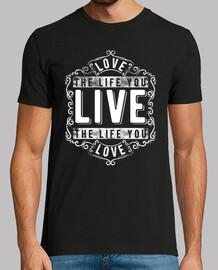 Camiseta Frases Optimistas Retro Live
