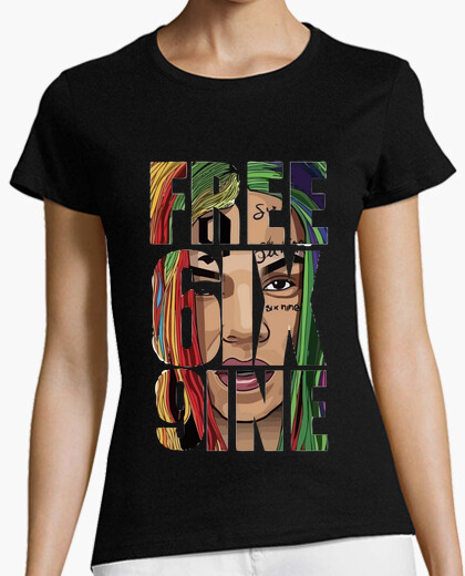 Camiseta FREE6IX9INE negra