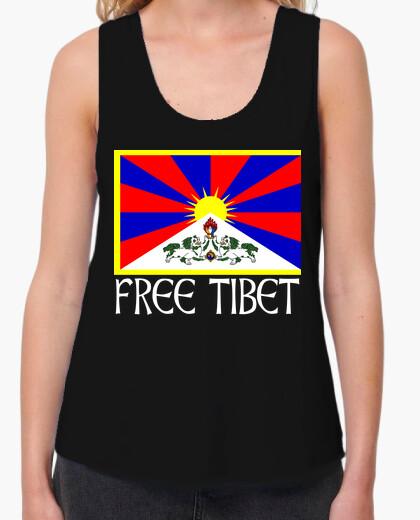 Camiseta FREE TIBET BLANCO