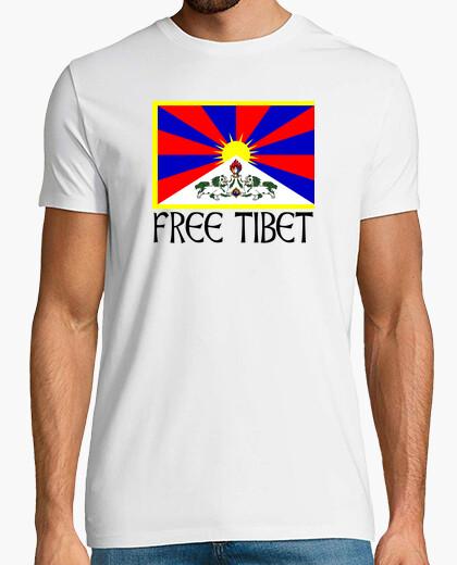 Camiseta FREE TIBET NEGRO