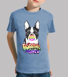 Camiseta Frenchie bubbleGum Arcoiris