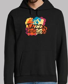 camiseta fresca de los músicos de jazz