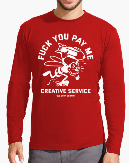 Camiseta Fuck You Pay Me blanco