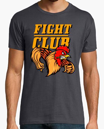 Camiseta Gallo Cartoons Lucha Club Color Naranja Dibujo