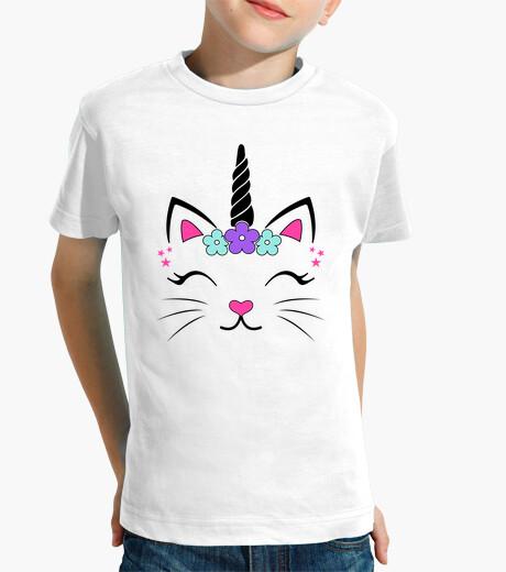 Ropa infantil Camiseta Gata Unicornio Fantasía Divertidas Graciosa Infantiles Animales