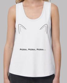 Camiseta gato - Miau