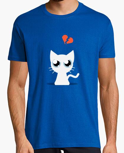 Camiseta Gato Blanco enfadado