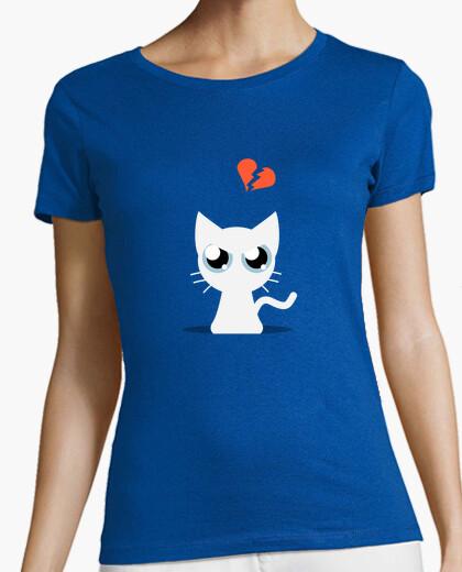 Camiseta Gato Blanco Triste