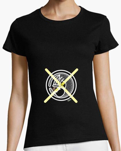 Camiseta Gato Cruz Amarilla Mujer