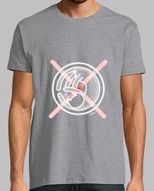Camiseta Gato Cruz Rosa Hombre