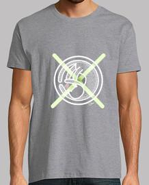 Camiseta Gato Cruz Verde Hombre