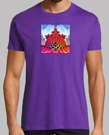 Camiseta Geometria fractal Hombre, manga corta, morado