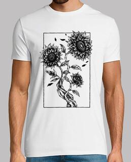 Camiseta Girasoles Dibujo Arte Planta Flores Campo