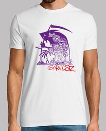 Camiseta Gorillaz logo.