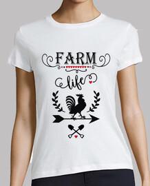 Camiseta Granjero Farm Life Corazones