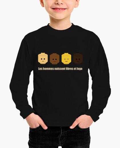 Ropa infantil camiseta gratis y el niño lego
