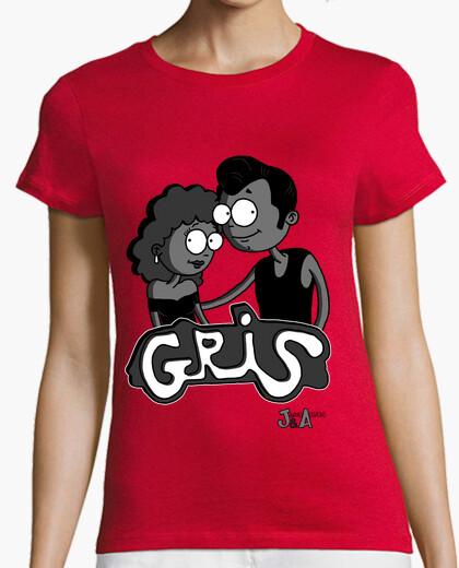 Camiseta Gris - Chica