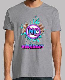 Camiseta gris hombre #NCRAFT