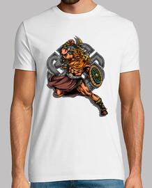 Camiseta Guerrero Vikingo Retro Vintage