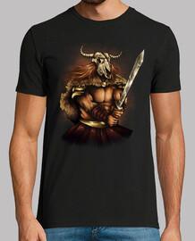 Camiseta Guerrero Vikingo Viking Cartoons Batallas