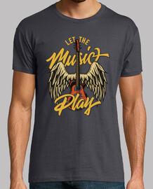 Camiseta Guitarra Eléctrica Vintage Retro