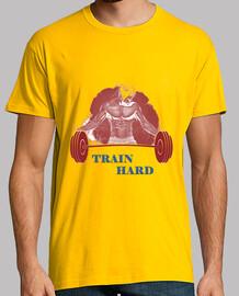 Camiseta Gym Train Hard