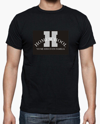 Camiseta H de Homeschool -Negro-