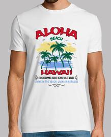 Camiseta Hawaii Playa con Palmeras Beach